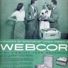 1957  Webcor Tape Recorder  ad (# 4944)