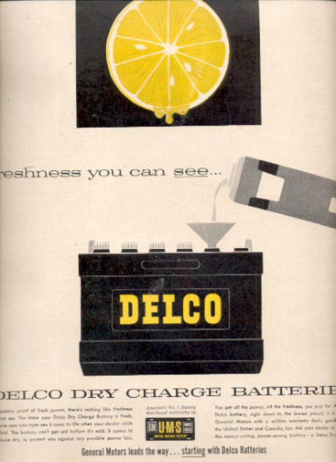 1957    Delco Dry Charge Batteries  ad (# 4922)