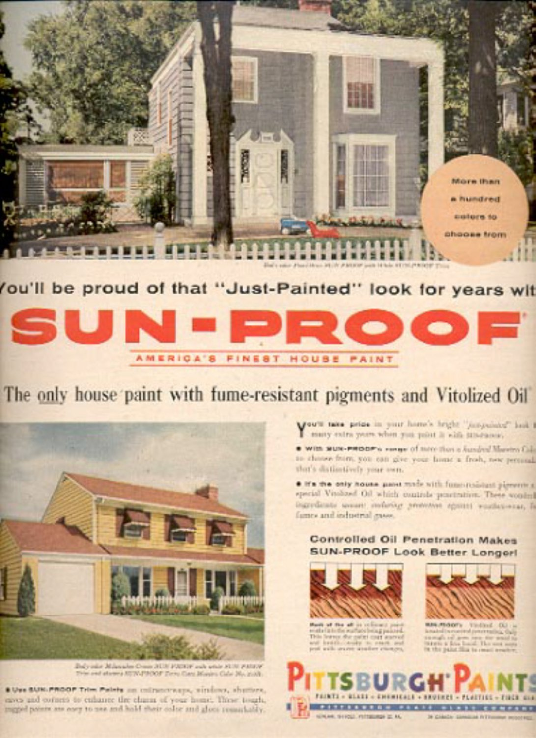 1957   Pittsburgh Paints  ad (# 4916)