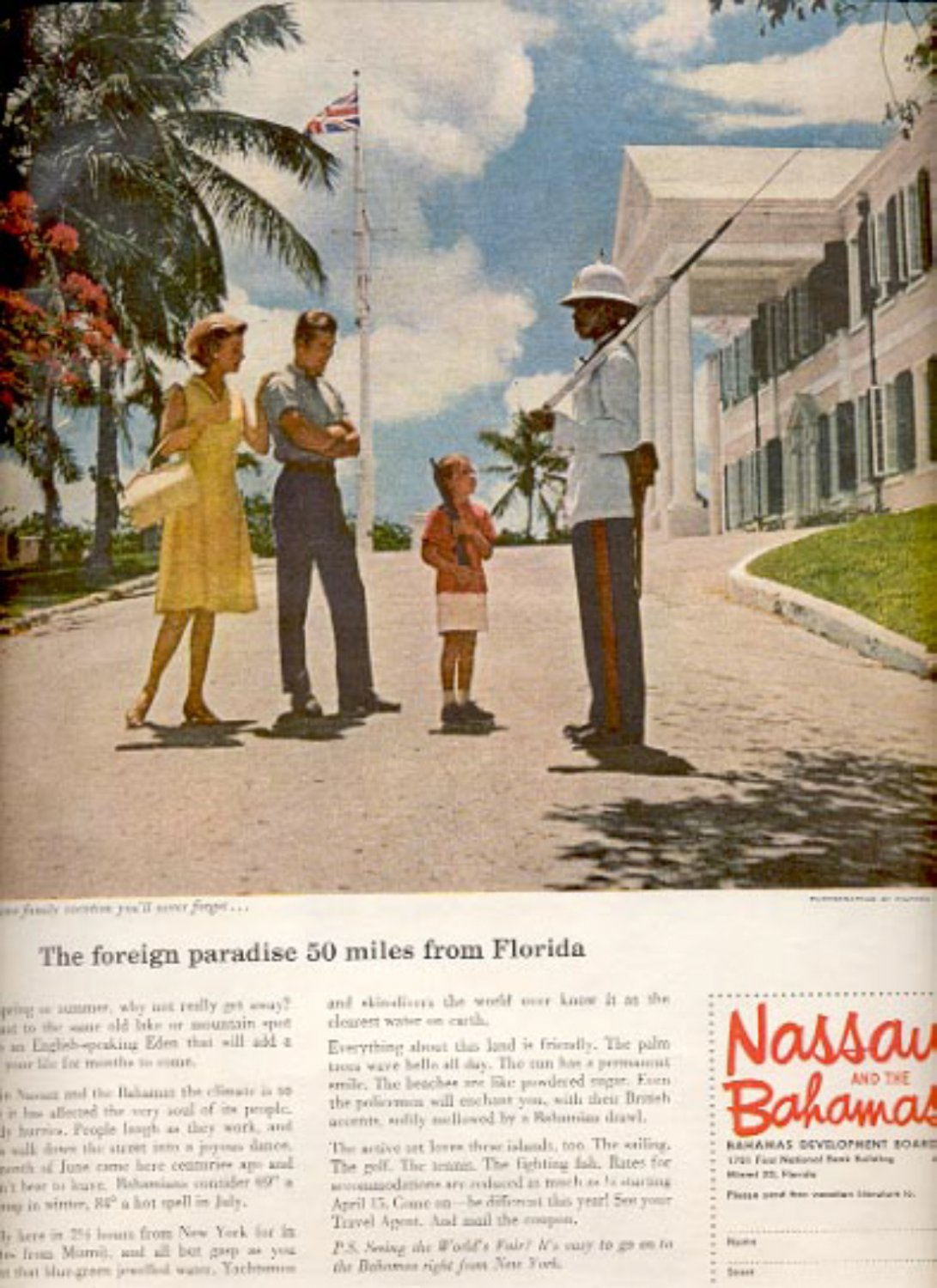 1964  Bahamas Development Board  ad (# 4904)