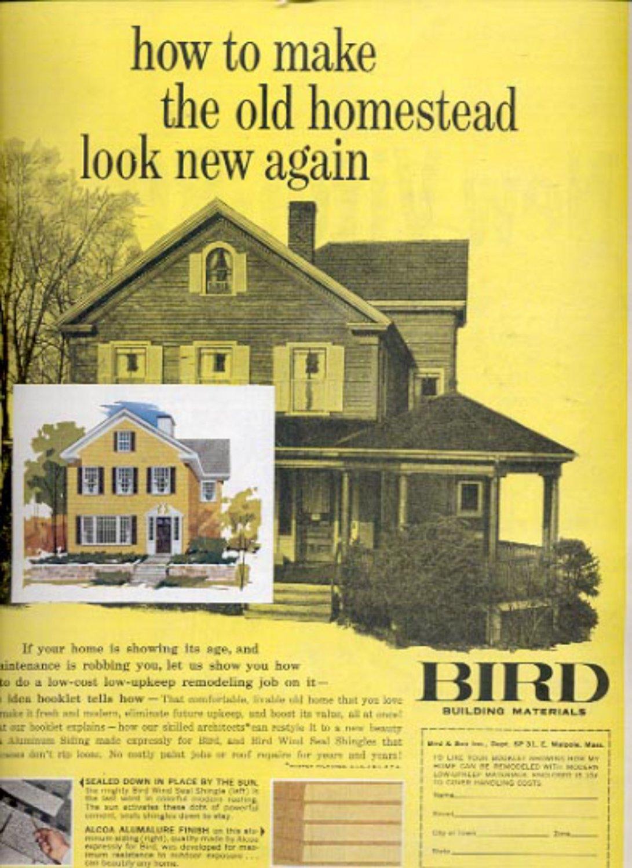 1961  Bird Building Materials magazine   ad (#4266)