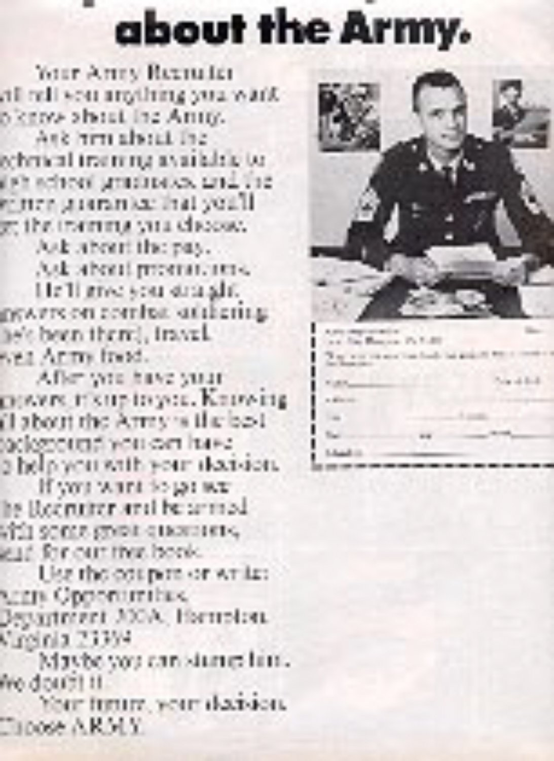1970  Army Opportunities ad (# 2942)