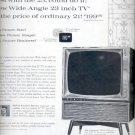 1960 Admiral wide angle 23 inch TV   ad (# 5344)