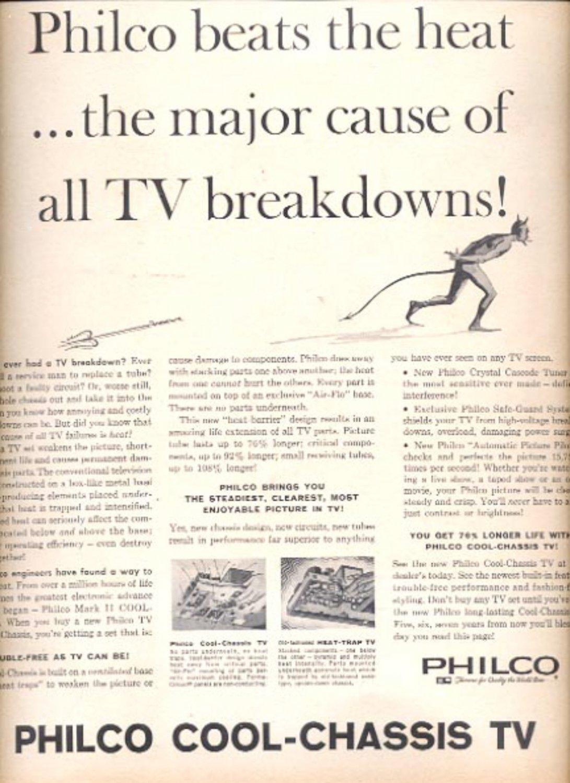 1960 Philco Cool-Chassis TV magazine    ad (# 5286)