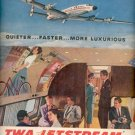 1957  TWA Jetstream airliner ad (# 4678)
