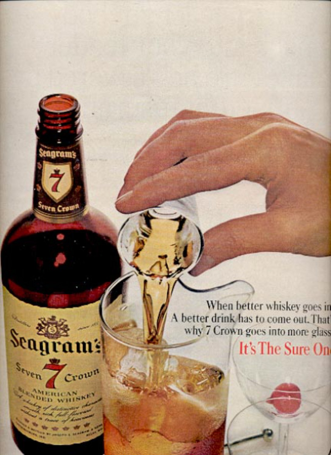 1964 Seagram's Seven 7 crown Whiskey ad (#5415)