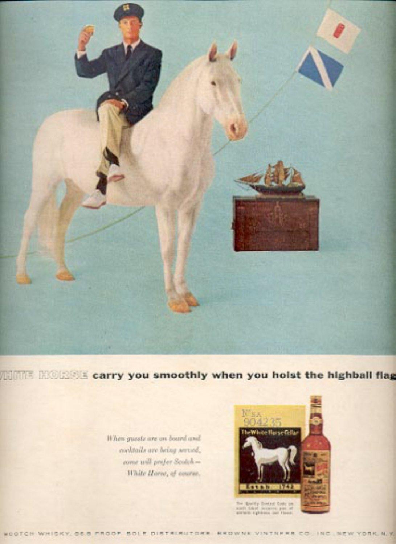 1957   White Horse Scotch Whisky   ad (# 4995)
