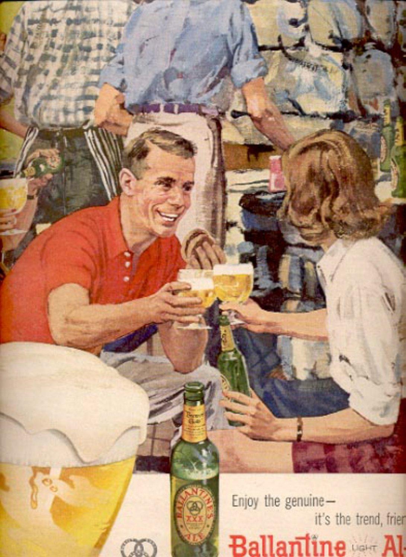 1957   Ballantine Light Ale  ad (# 4917)
