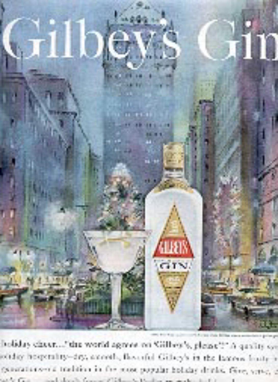1962  Gilbey's Gin magazine  ad (  #  2106)