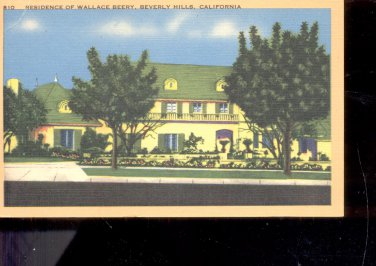 Residence of Wallace Beery, Califoronia-  Postcard- (#  17)