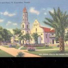 Catholic Cathedral and Plaza,  FL-  Postcard- (# 66)