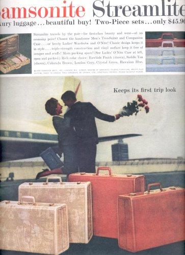 Feb. 17, 1959 Samsonite Streamlite Luxury luggage      ad (# 3677 )