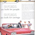 Feb. 17, 1959  - 59 Fords       ad (# 3678 )