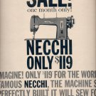 April 6, 1959     Necchi-Elna Sewing Machine Sales Corporation   ad (# 3763)