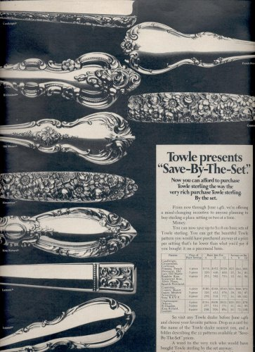 May 1969    Towle Silversmiths    ad (# 3802)
