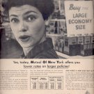 Sept. 17, 1957   Mutual of New York  Insurance      ad (# 3375)