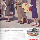 June 12, 1954   -  Trans World Airlines    ad (# 3389)