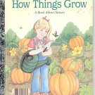 How Things Grow- a book about nature- a little  Golden book- hb