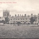 Merton College from the Fields. Oxford.  Postcard (#152)