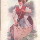 Girl in Canoe  Postcard  (#162)