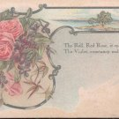 The Red, Red Rose, it speaks of love  Postcard  (#176)