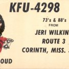 KFU- 4298 Red Cloud   Postcard  (#186)