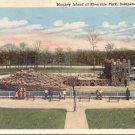 Monkey Island at Riverside Park, Independence, Kansas   postcard   (#245)