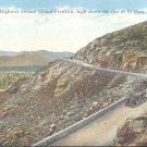 Scenic highway around Mount Franklin- El Paso, Texas   Postcard #2 (#313)