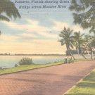 Palmetto, Florida showing Green Bridge across Manatee River  Postcard  (#331)