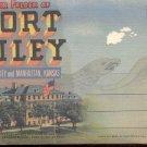Souvenir folder of  Fort Riley, Kansas     Postcard booklet   (#357)