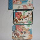 Best Friends playing card set- in decorative tin - cats and dogs
