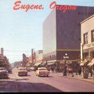 Willamette Street and Broadway- Eguene, Oregon     Postcard (#452)