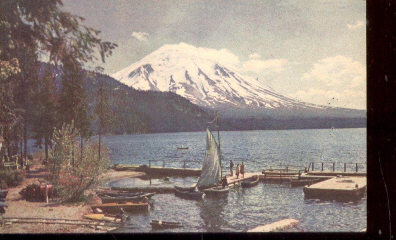 Mt. Saint Helens viewed from Spirit Lake, Washington       Postcard  ( # 496)