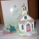 Spring Valley Lighted Village- Church and Bench- NIB