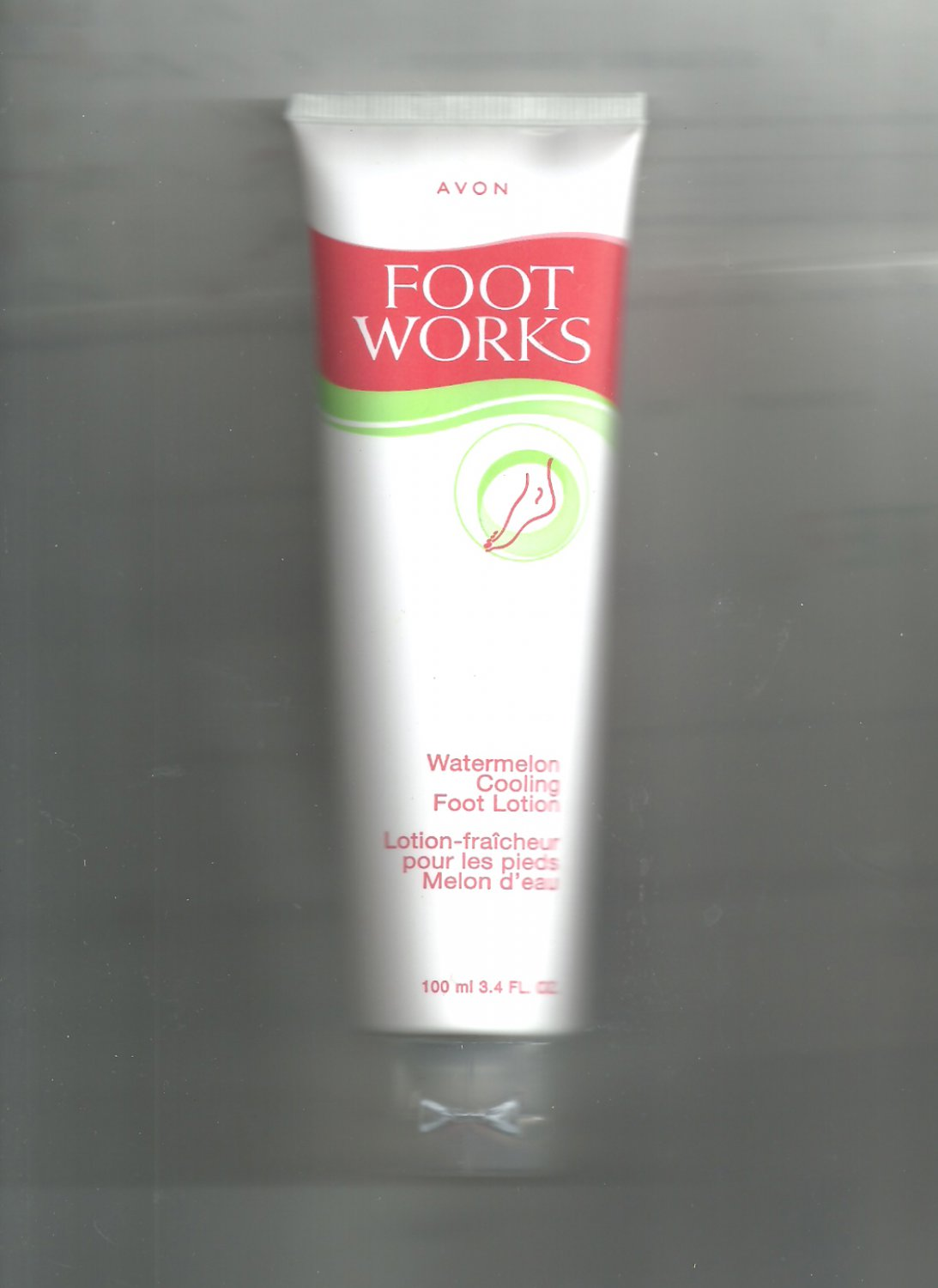 2 Avon Foot Works Watermelon Cooling Foot Lotion   -Vintage
