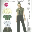 McCalls  pattern  M6245   Misses  Shrugs.  -  Size AX5- 4-12.