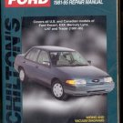 Chilton's Ford Escort/ Lynx 1981- 95 Repair Manual