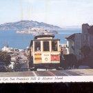 Cable Car, San Francisco Hill & Alcatraz Island     Postcard  (# 777)