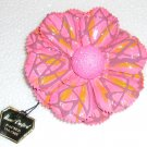 Pink Hand crafted papier mache brooch Made in Japan. Vintage.  (# 2)