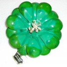 Green Hand crafted papier mache brooch - as is. Vintage.  (#18)