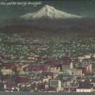 Portland Ore. and Mt. Hood by Moonlight      Postcard  (#  508)