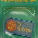 Name embroidery sew on patch- KAREN-  vintage 1973 (#19)