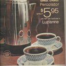 Nov. 10, 1961     Luzianne coffee - West Bend Percolator      ad (# 3579)