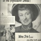 Feb. 1948  Pepsodent Tooth Paste      ad  (# 6653)