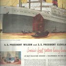Sept. 1948  American President  Lines    ad (# 3645 )