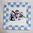 Snowman small nut dish by living Quarters distriubted by Proffit's Group