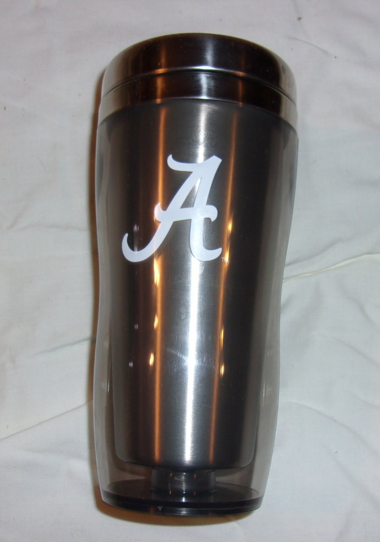"Alabama Crimson Tide  Script ""A""  Travel Mug"