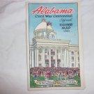 Alabama Civil War Centennial Official Highway Map 1961