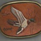 Flying Mallard Solid Brass Belt Buckle- Vintage