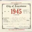 1945 City of Tuscaloosa , Alabama Business License